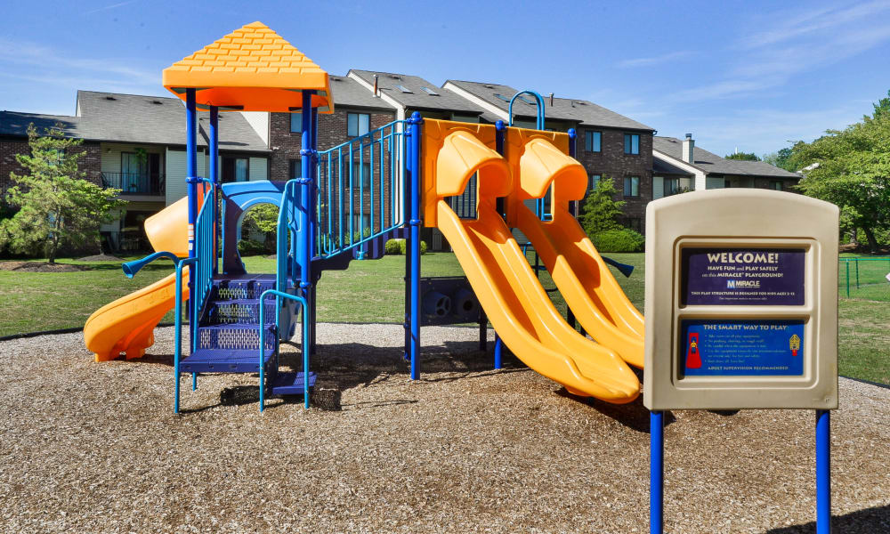 Playground at apartments in East Brunswick, New Jersey