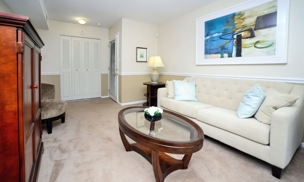 Our apartments in Eastampton, New Jersey showcase a luxury living room
