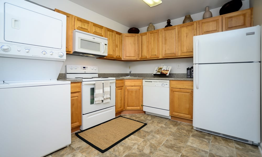 Enjoy apartments with a unique kitchen at Sherwood Village Apartment & Townhomes