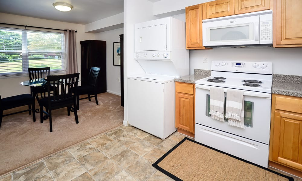 Kitchen at Sherwood Village Apartment & Townhomes in Eastampton, New Jersey