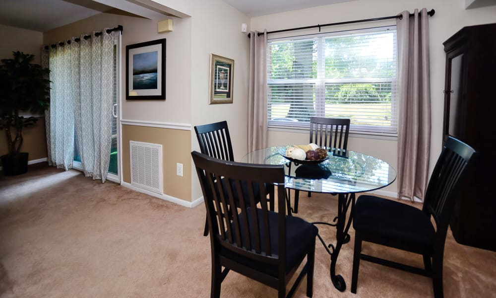 Enjoy apartments with a spacious dining room at Sherwood Village Apartment & Townhomes