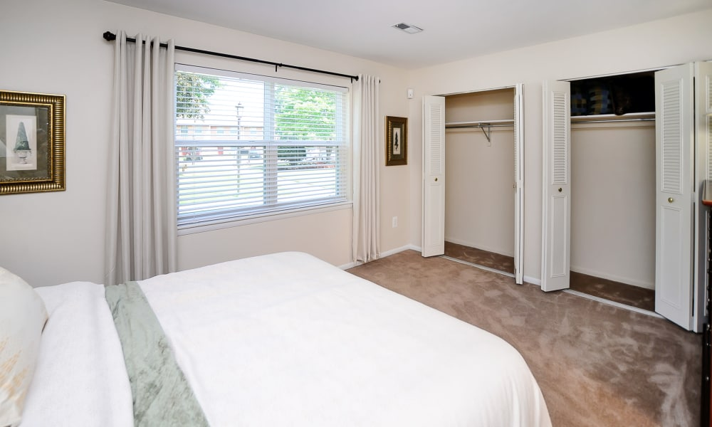 Beautiful bedroom at apartments in Eastampton, New Jersey
