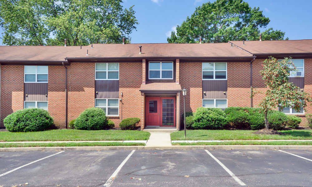 Sherwood Village Apartment & Townhomes offers a spacious parking area in Eastampton, New Jersey