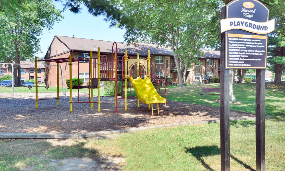 A playground that is great for entertaining at apartments in Eastampton, New Jersey