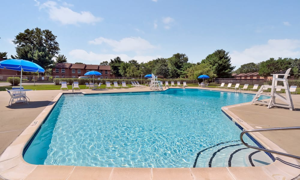 Swimming pool at apartments in Eastampton, New Jersey