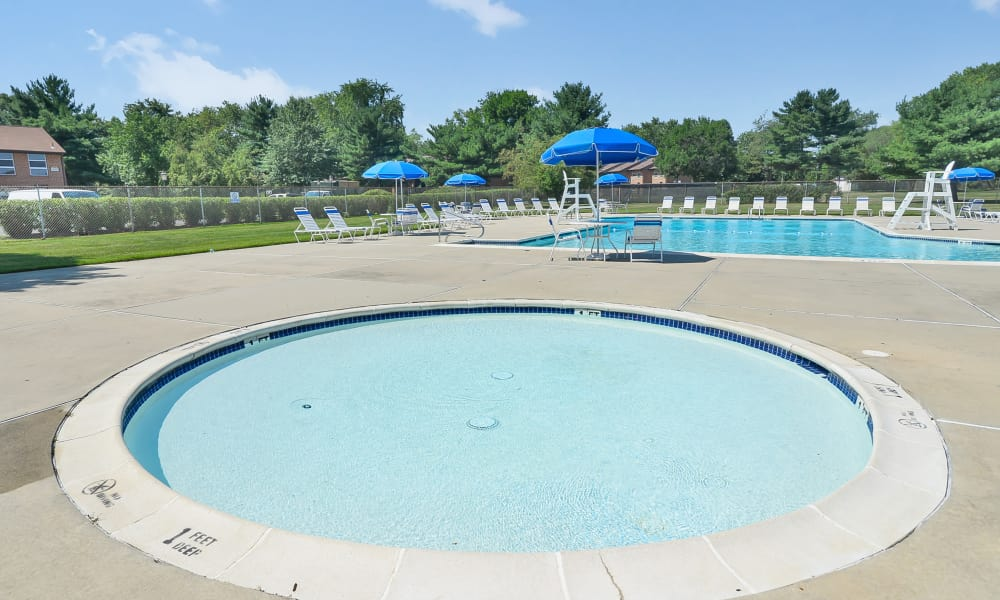 Sherwood Village Apartment & Townhomes offers a swimming pool in Eastampton, New Jersey