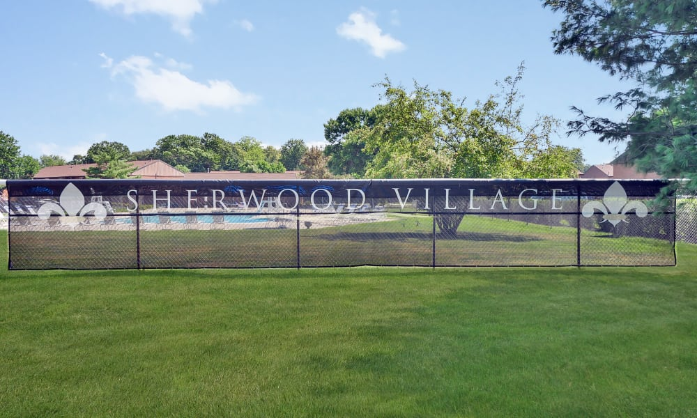 Beautiful exterior areas at Sherwood Village Apartment & Townhomes in Eastampton, New Jersey