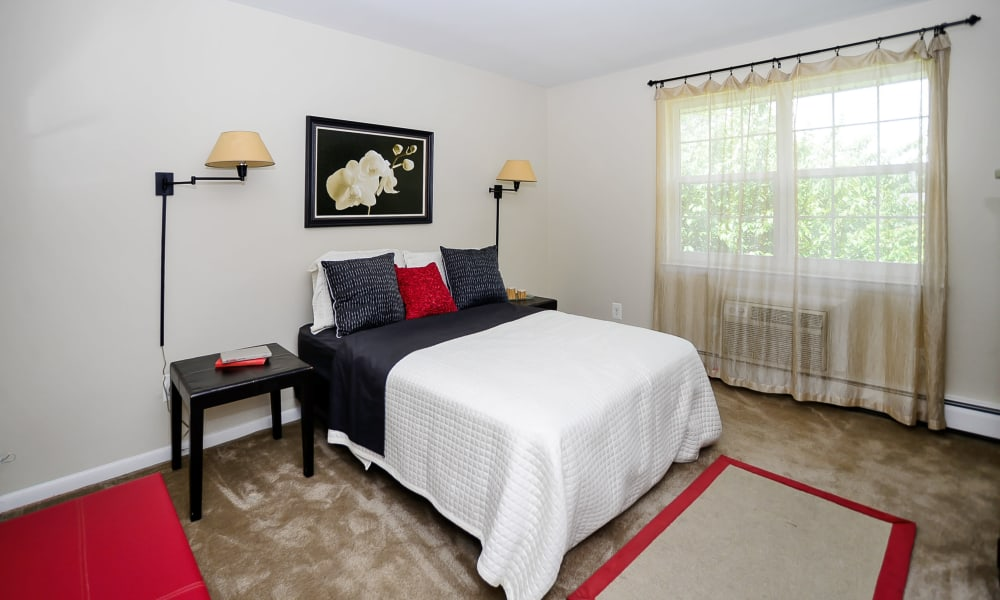 Luxury bedroom at apartments in Maple Shade, New Jersey