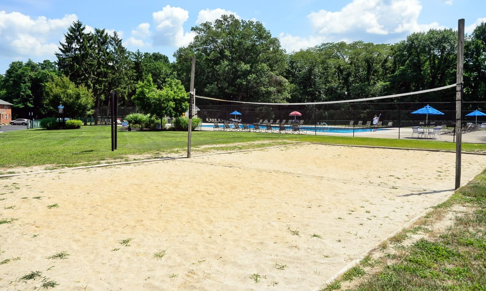 Modern volleyball court at Roberts Mill Apartments & Townhomes in Maple Shade, New Jersey