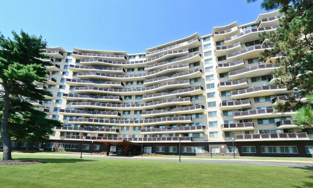 Exhilarating view of Towers of Windsor Park Apartment Homes in Cherry Hill, NJ