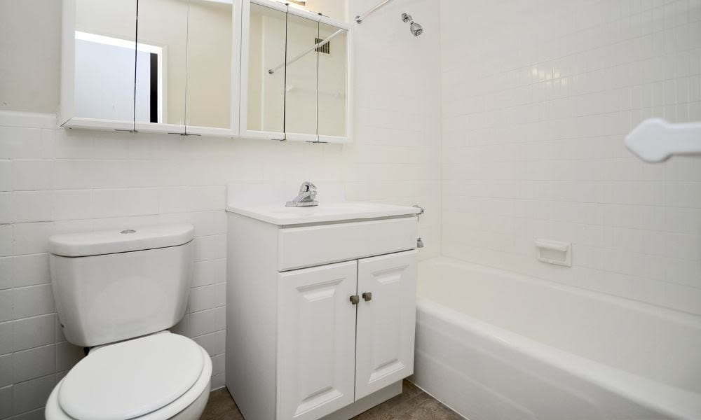 Bathroom at Towers of Windsor Park Apartment Homes in Cherry Hill, NJ