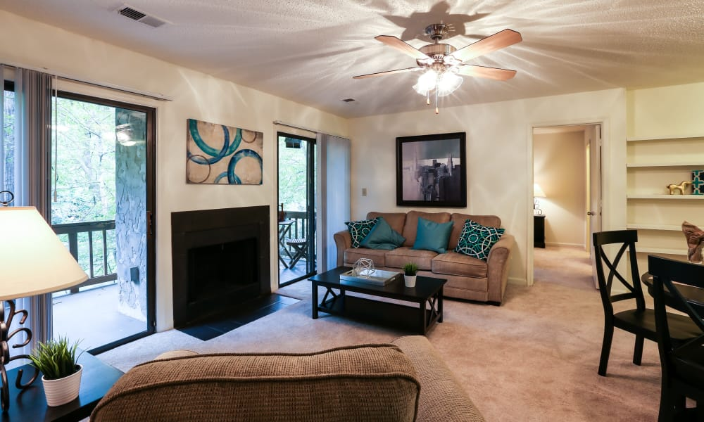 Our apartments in Spartanburg, South Carolina showcase a spacious living room