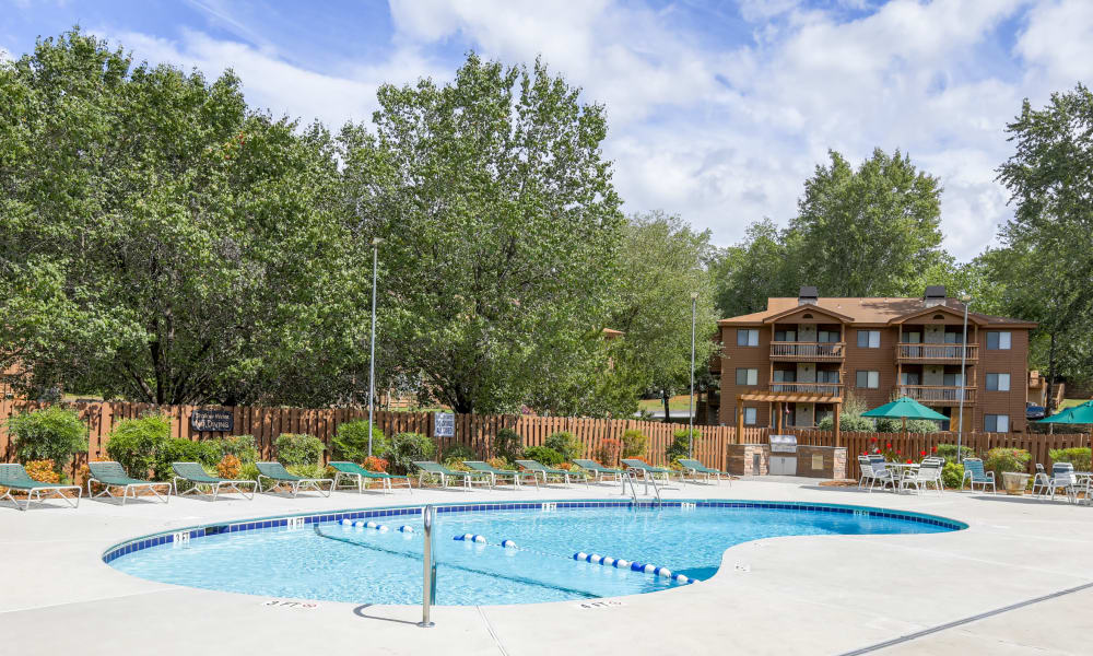 Our apartments in Spartanburg, South Carolina offer a swimming pool