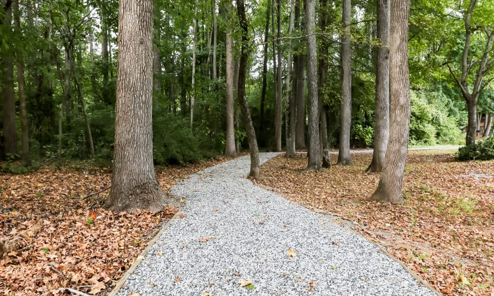 Beautiful walking paths at apartments in Spartanburg, South Carolina
