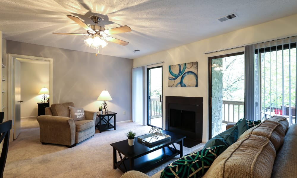 Our apartments in Spartanburg, South Carolina showcase a beautiful living room