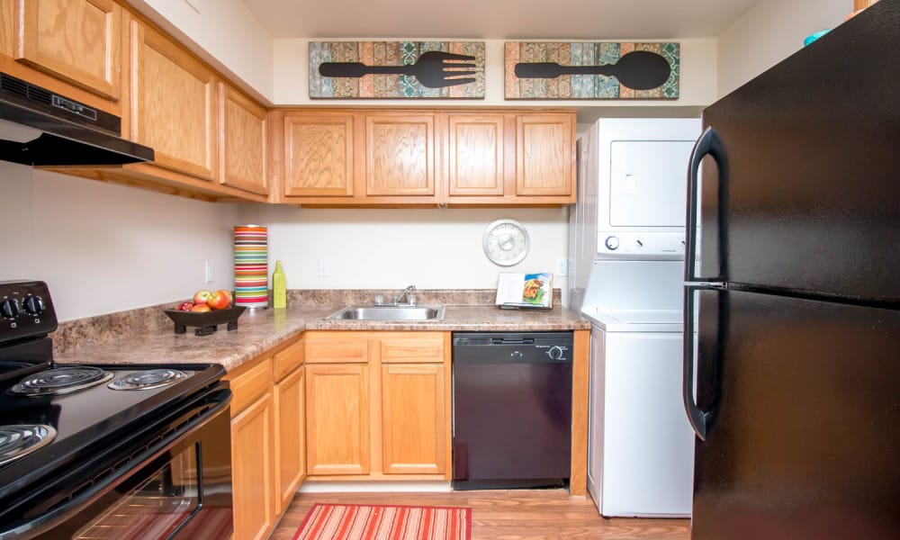 Enjoy apartments with a renovated kitchen at Monarch Crossing Apartment Homes