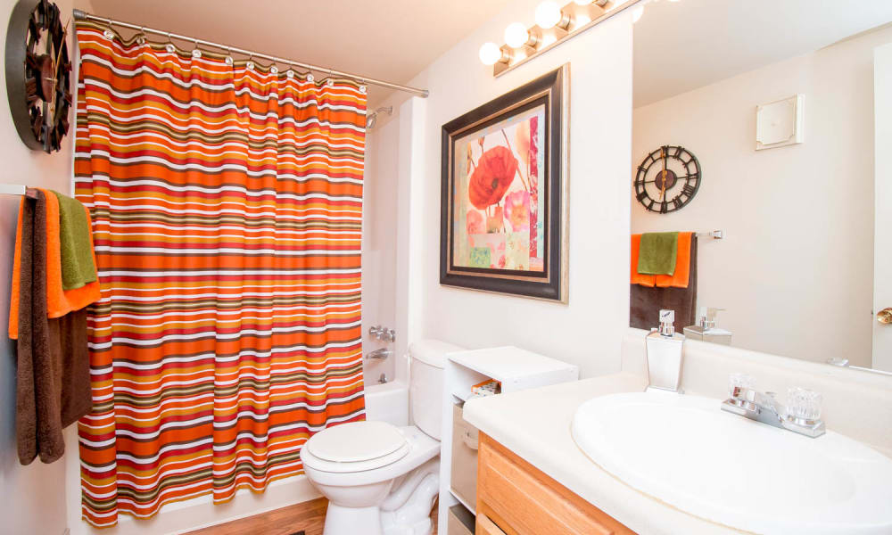 Enjoy apartments with a bathroom at Monarch Crossing Apartment Homes