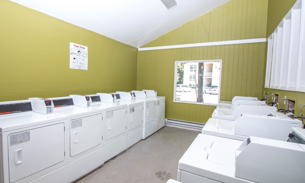 Laundry facility at Monarch Crossing Apartment Homes in Newport News, Virginia