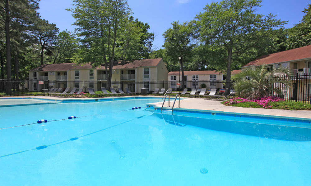 Swimming pool at apartments in Newport News, Virginia