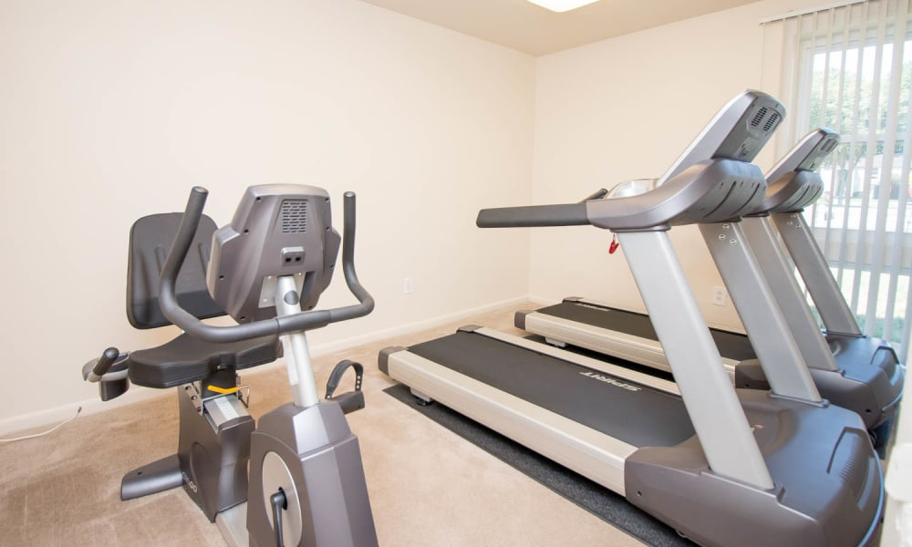 Enjoy apartments with a fitness center at Monarch Crossing Apartment Homes