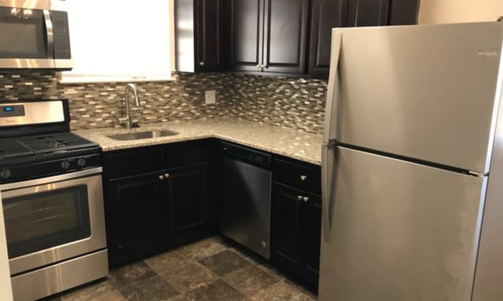 Burnt Mill Apartment Homes offers a kitchen in Voorhees, NJ