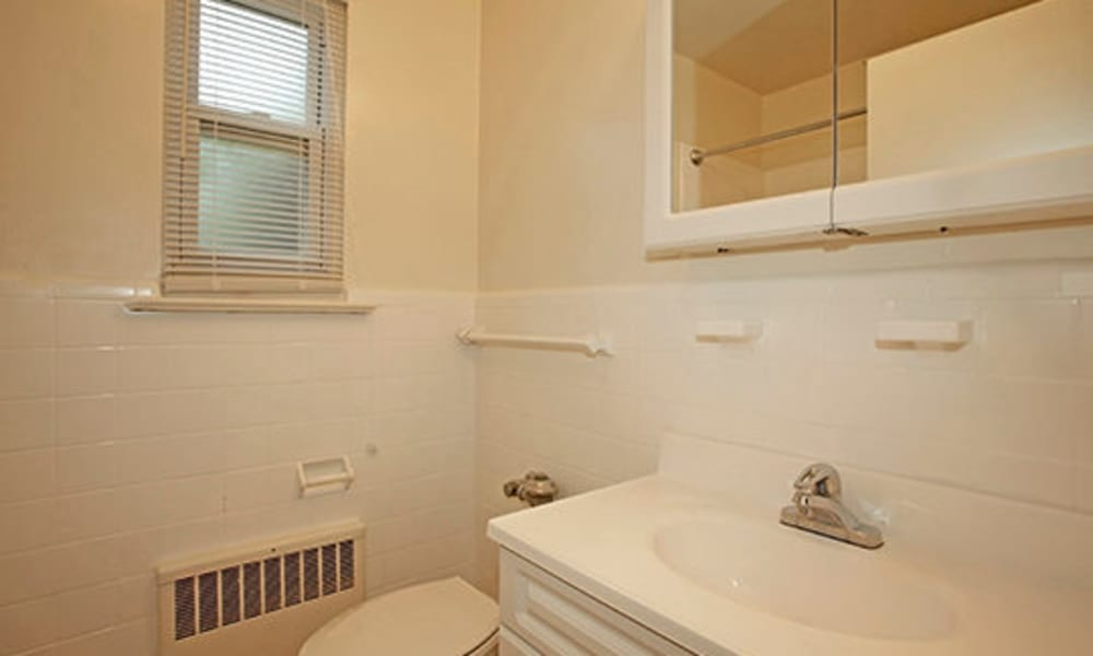Bathroom at apartments in Westfield, New Jersey