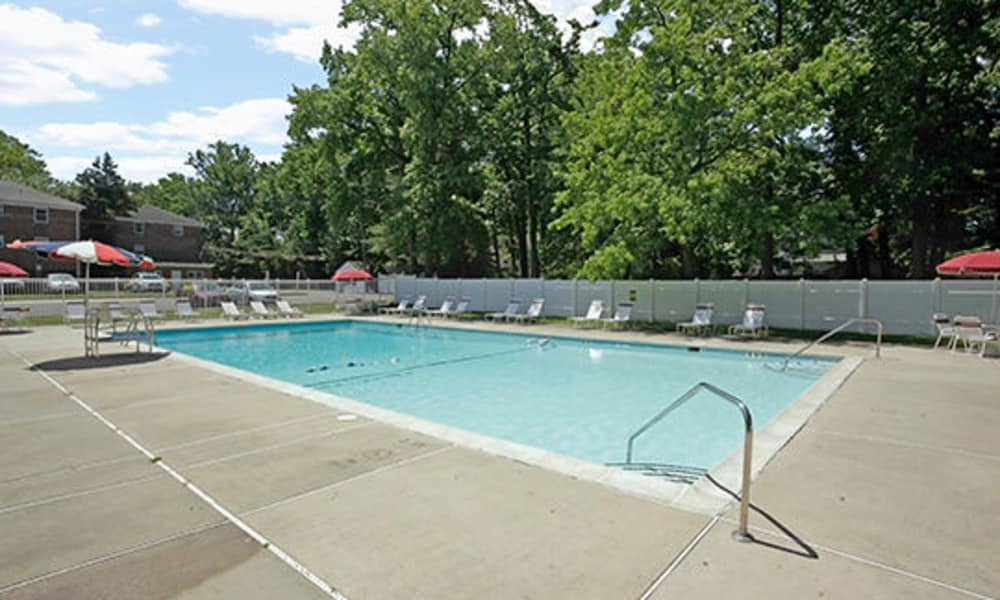 A swimming pool that is great for entertaining at apartments in Westfield, New Jersey