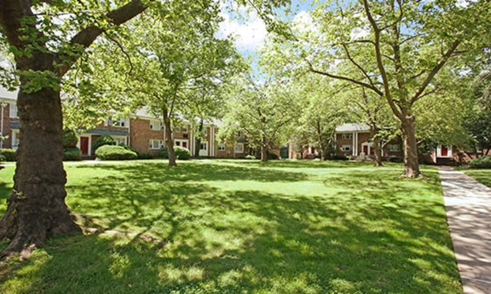 Green areas at Duncan Hill Apartments & Townhomes in Westfield, New Jersey