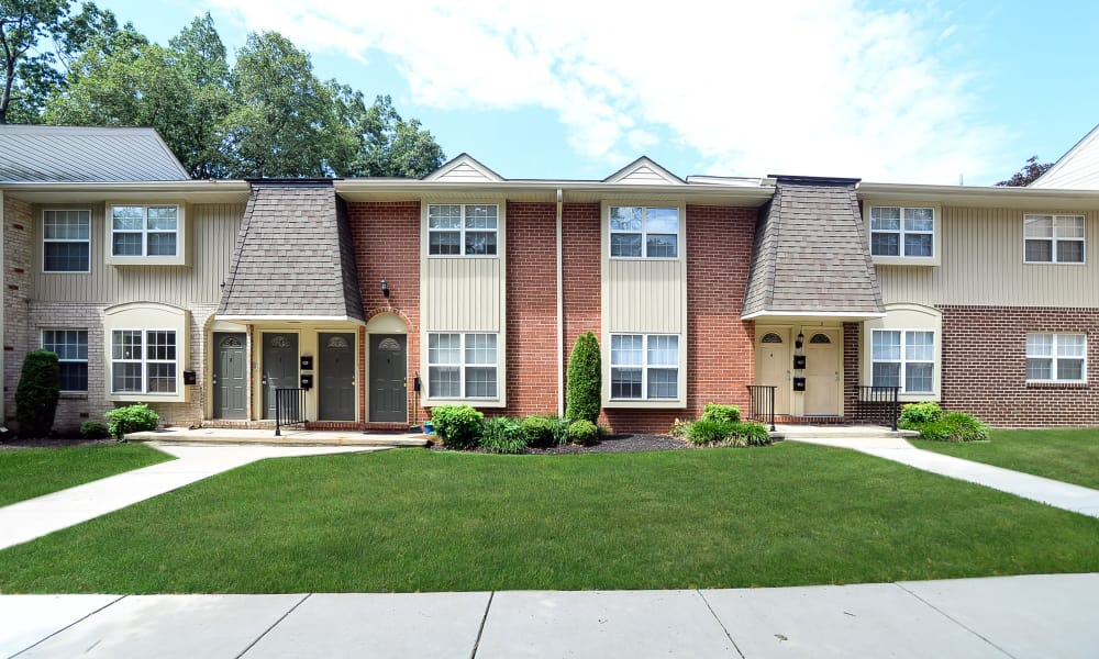 Great exterior shot of Moorestowne Woods Apartment Homes in Moorestown, NJ