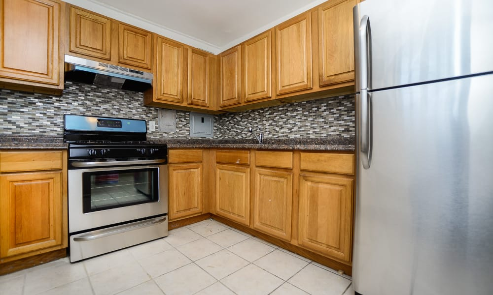 Riverside Towers Apartment Homes offers a beautiful kitchen in New Brunswick, New Jersey