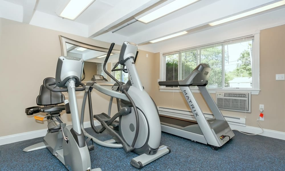 Fully equipped fitness center at Mariners Cove Apartment Homes in Toms River, NJ will help you get your exercise in for the day