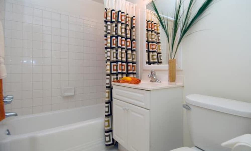Model bathroom at Brookdale at Mark Center Apartment Homes