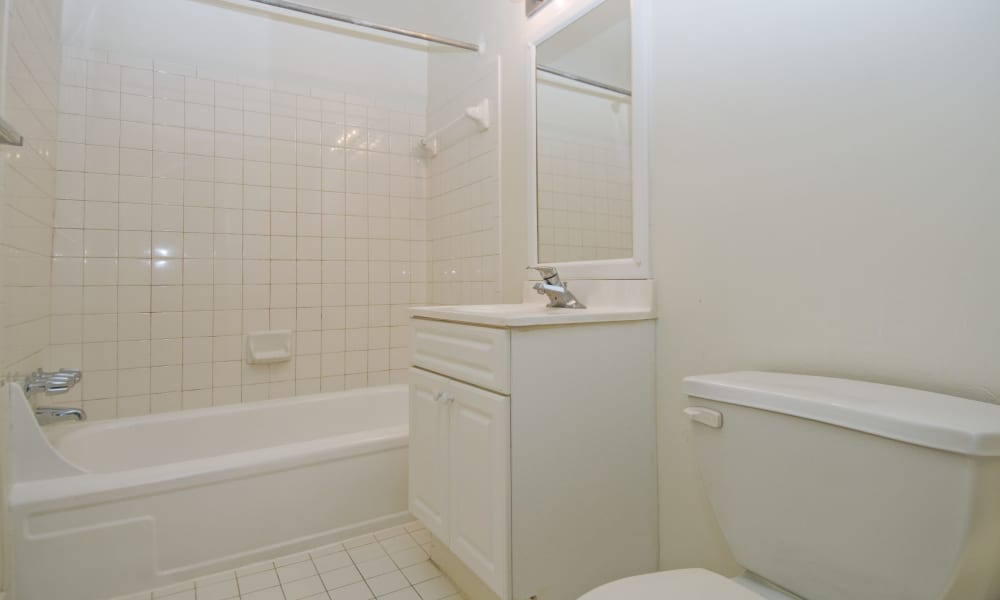 Bathroom at Willow Run at Mark Center Apartment Homes in Alexandria, VA