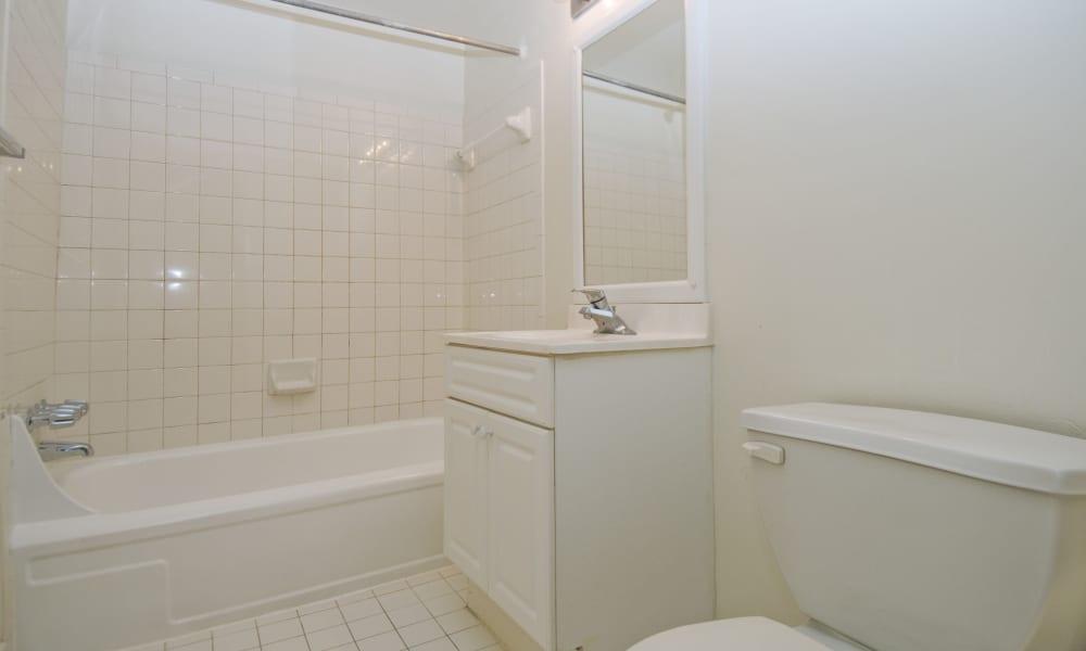 Bathroom at Willow Run at Mark Center Apartment Homes in Alexandria, VA