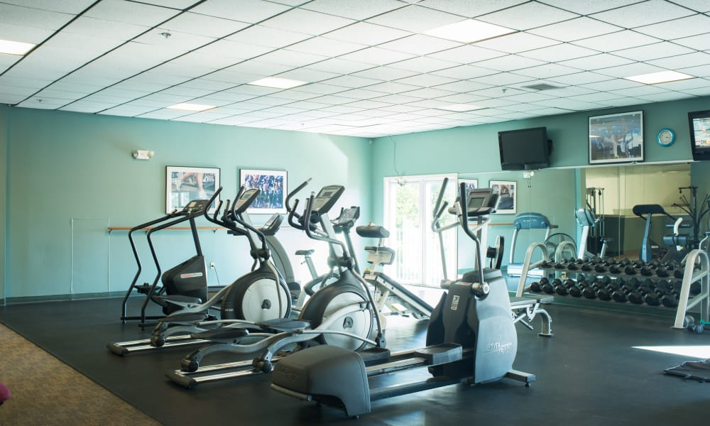 Fitness center at Wellington Hill