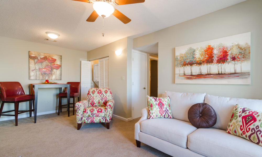 Our apartments in Bonaire, GA showcase a beautiful living room