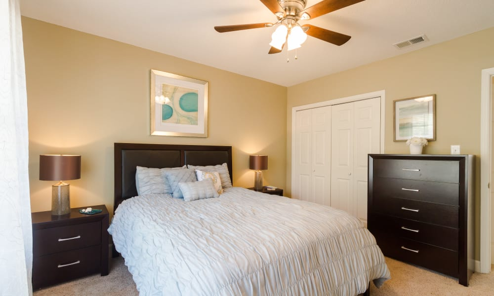 Our apartments & townhomes in Macon, GA showcase a beautiful bedroom