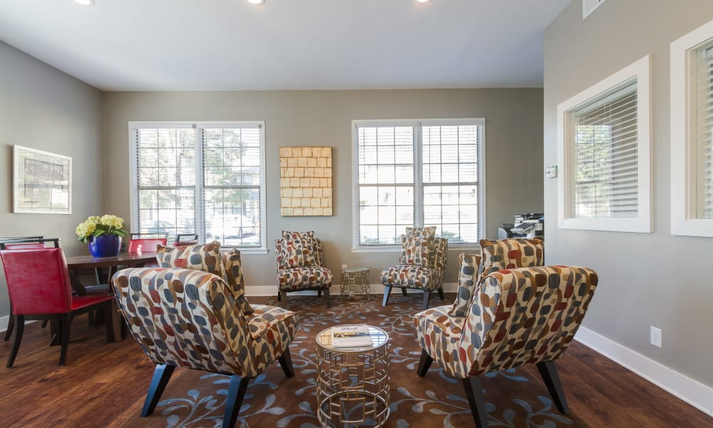 Clubhouse interior at Dwell on Riverside in Macon, GA