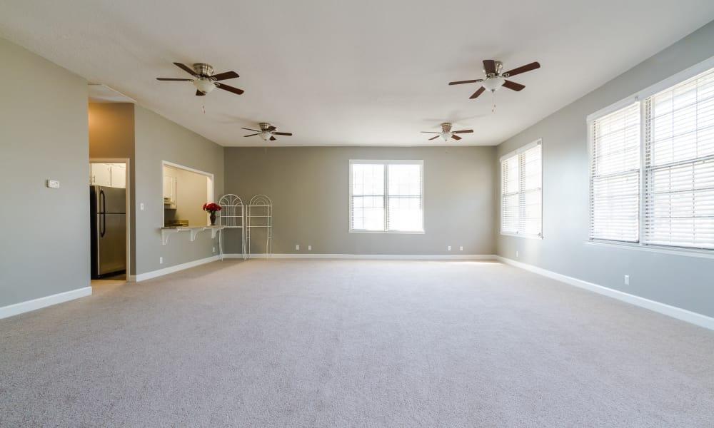 Open floor plan space at Dwell on Riverside in Macon, GA