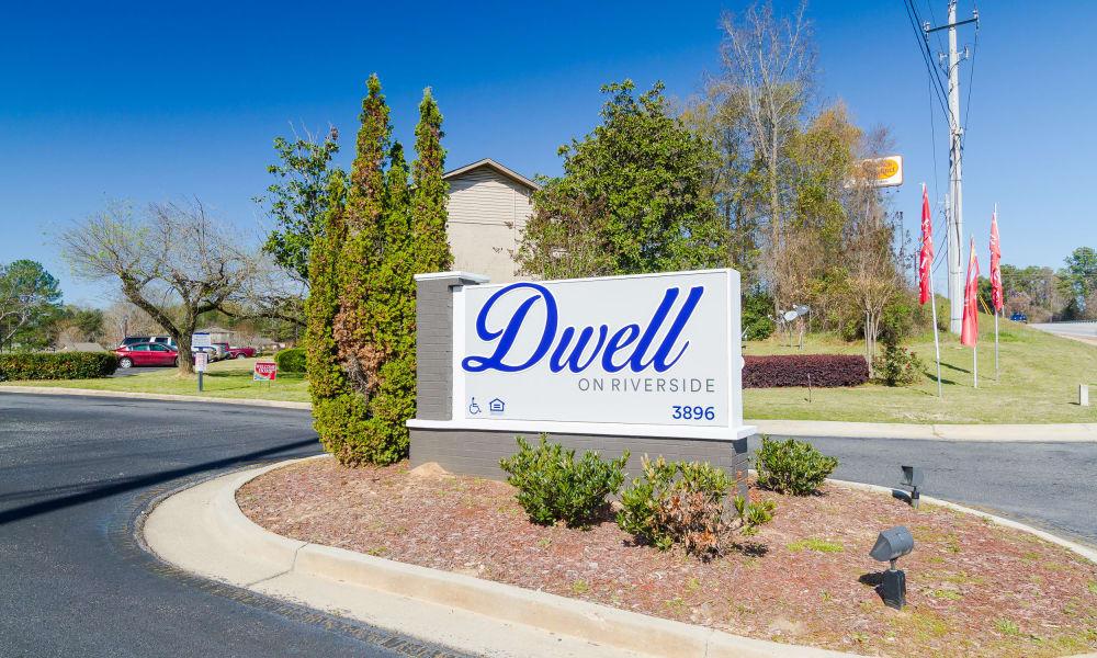 Dwell on Riverside signage in Macon, GA