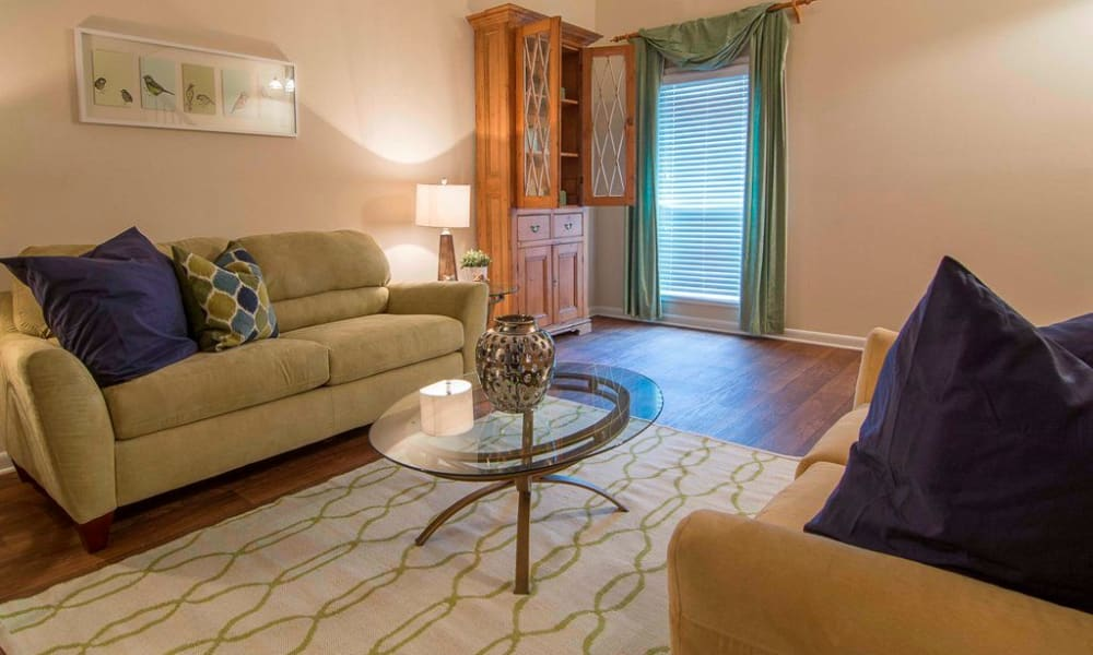 The Springs offers a beautiful living room in Smyrna, GA