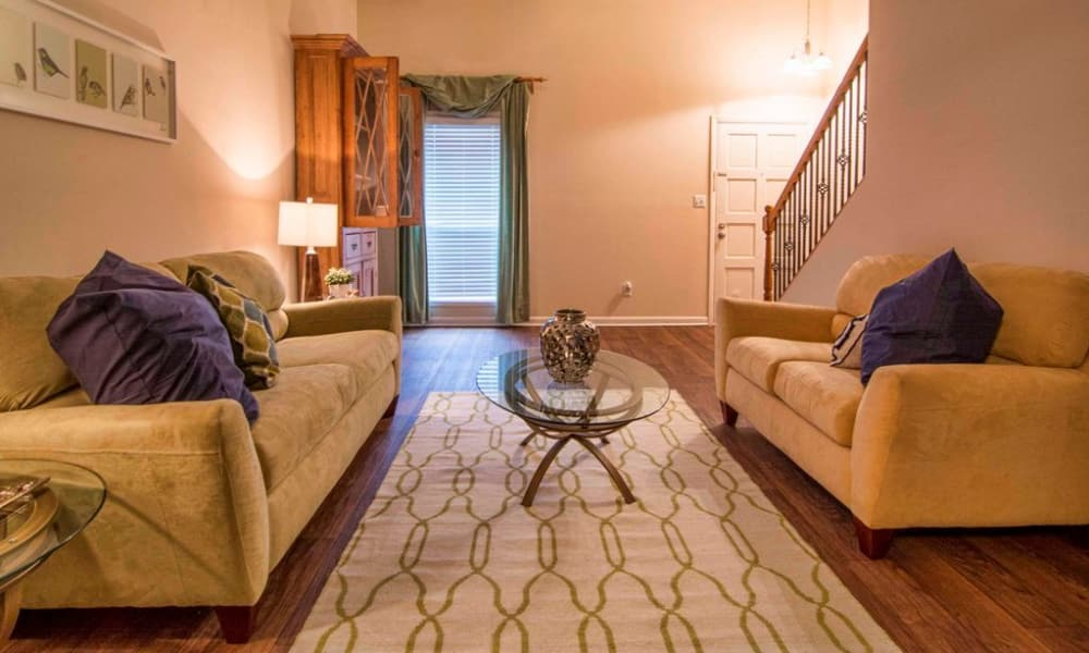 Our townhomes in Smyrna, GA showcase a unique living room