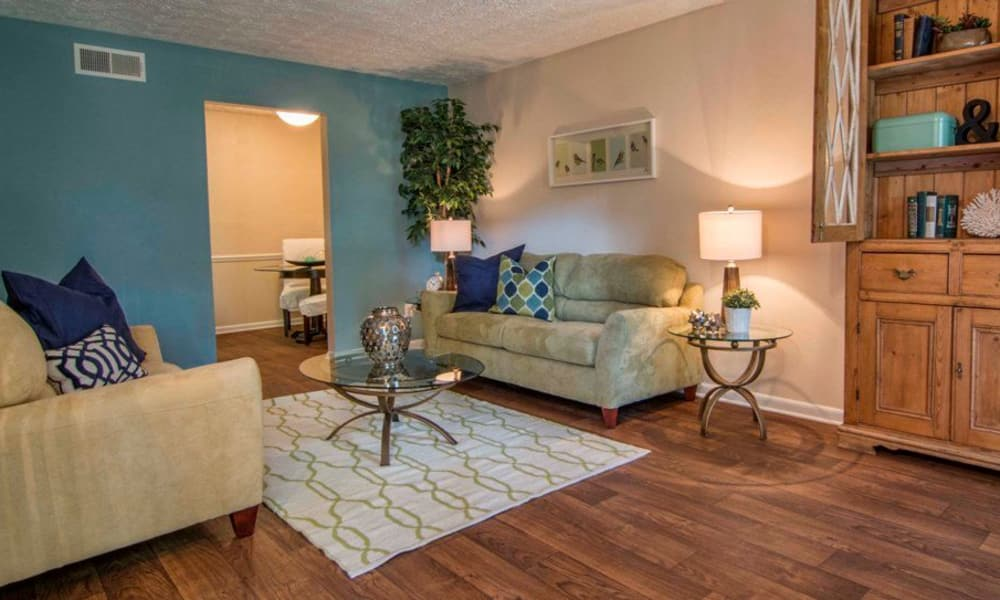Spacious living room at The Springs in Smyrna, GA