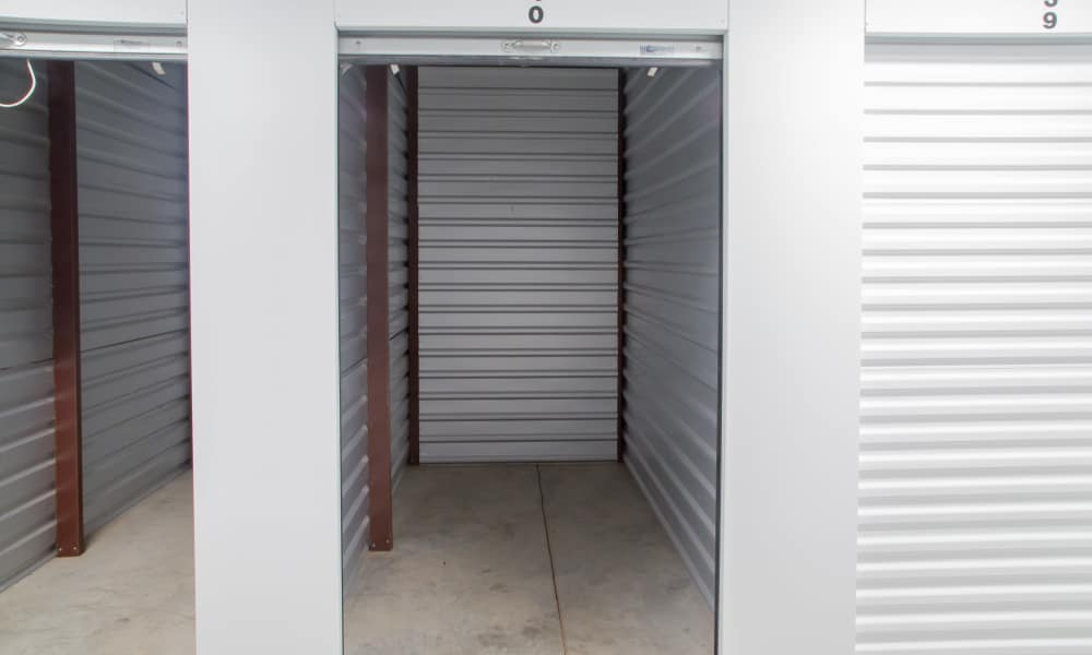 Interior of a storage unit at My Oxford Storage