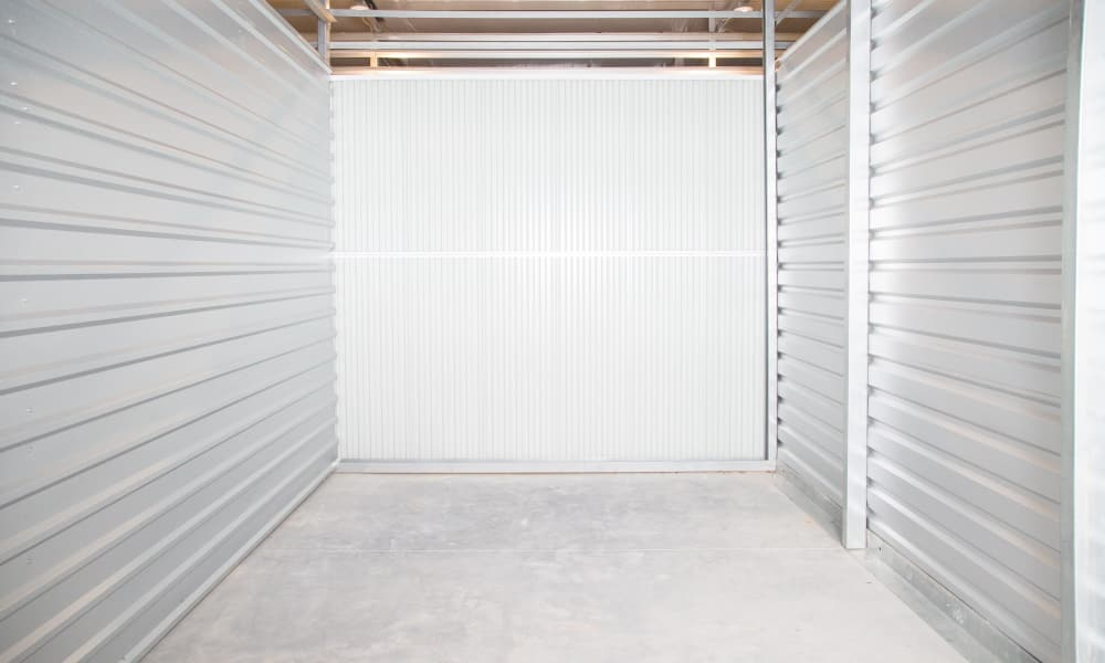 Interior view of a unit at My Oxford Storage