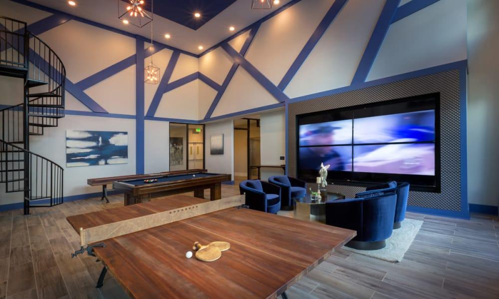 Billiards room at Reserve Decatur in Decatur