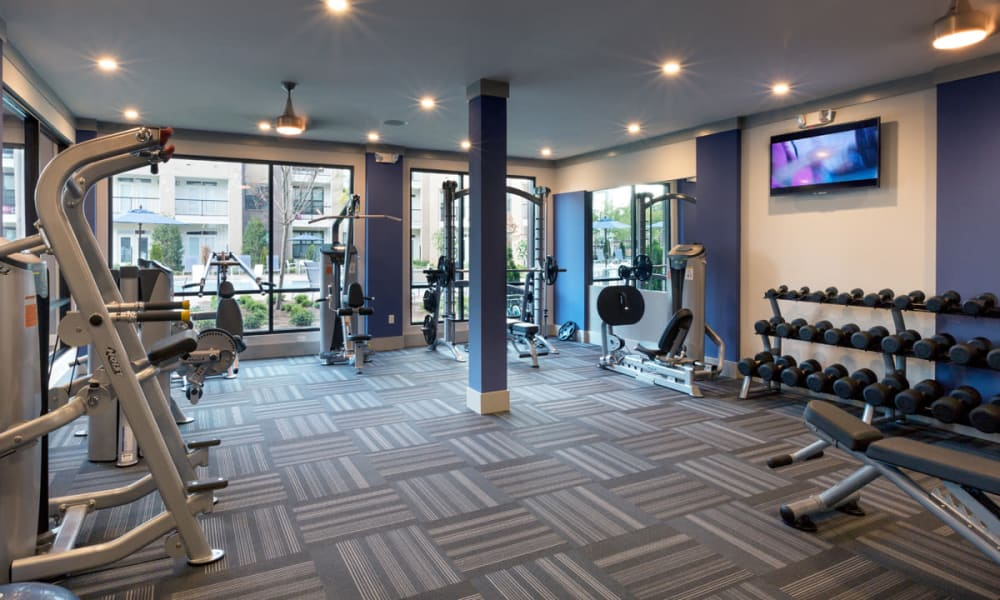 Gym area at Reserve Decatur in Decatur