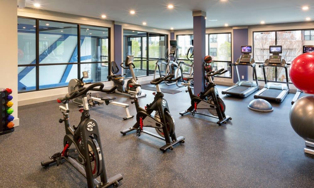 Exercise bikes at Reserve Decatur in Decatur