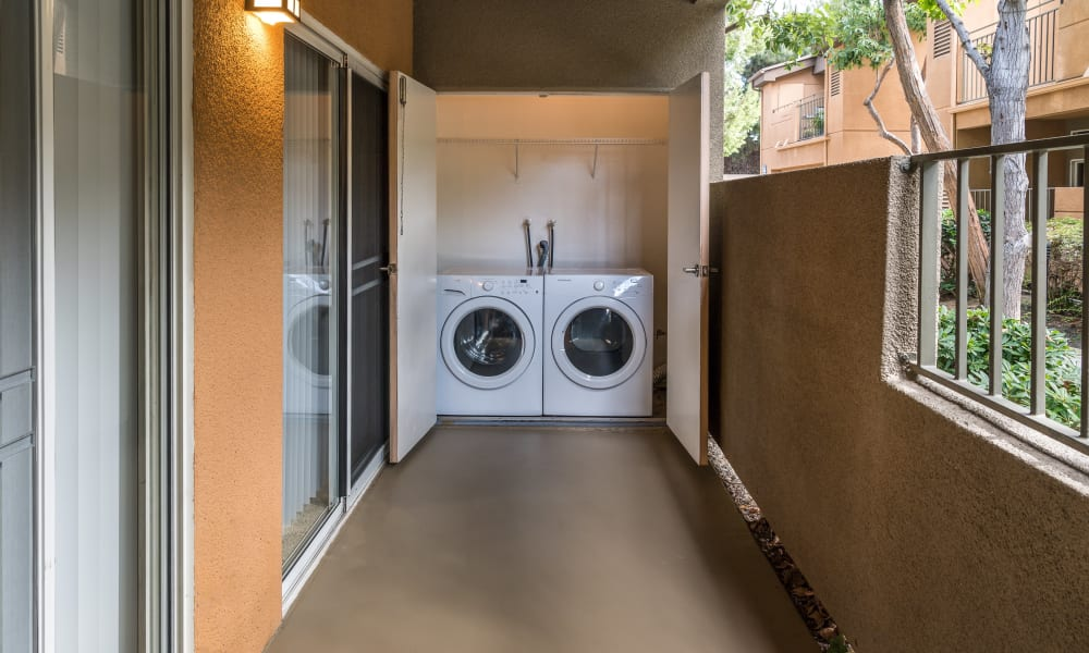 Washer and dryer at Seapointe Villas in Costa Mesa, CA