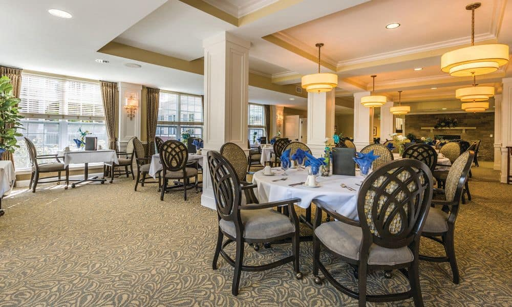 Spacious dining room at The Enclave at Anthem Senior Living